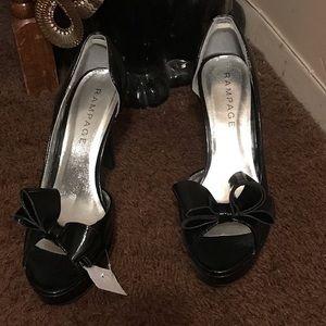 Shoes - RAMPAGE Black Pat heels